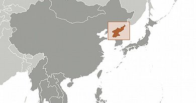 Location of North Korea. Source: CIA World Factbook.