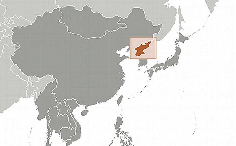 Location of North Korea. Source: CIA World Factbook.