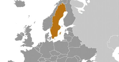 Location of Sweden. Source: CIA World Factbook.