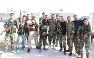 In middle: Abu Ja'afar. Presumably with members of Liwa Khaybar.