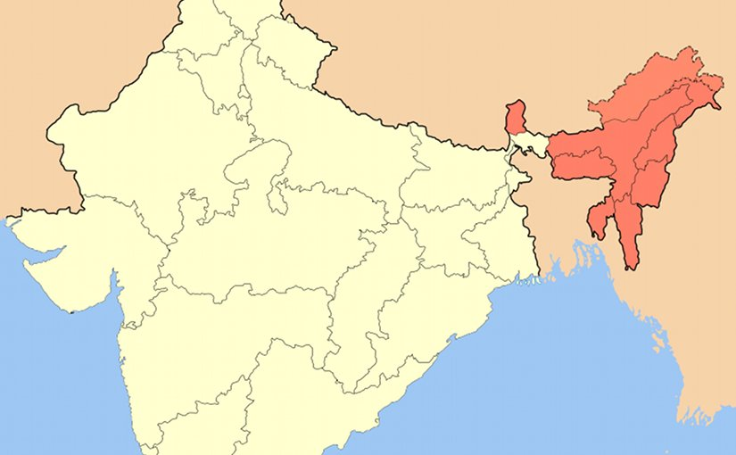 Northeast India. Source: Wikipedia Commons.