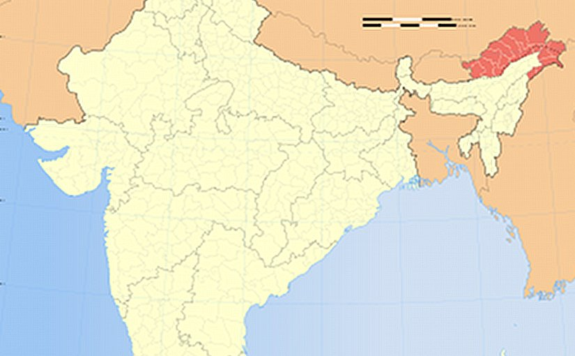 Location of Arunachal Pradesh in India. Source: Wikipedia Commons.