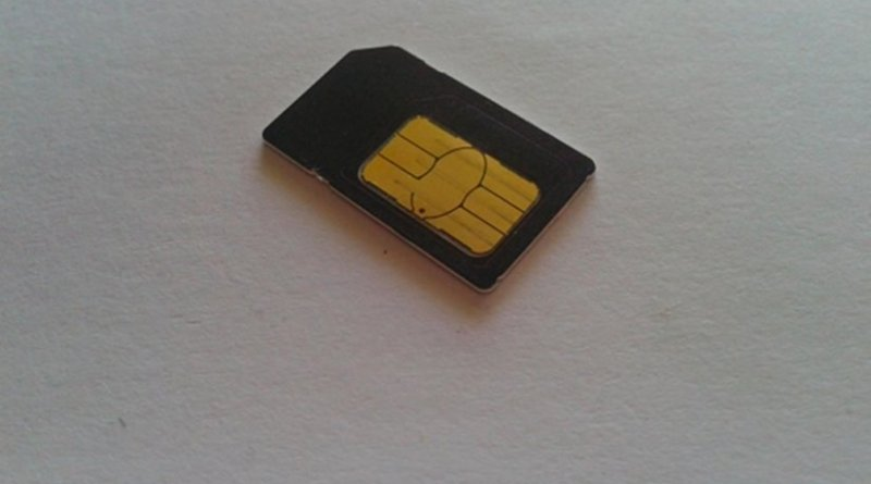 Mobile telephone SIM card