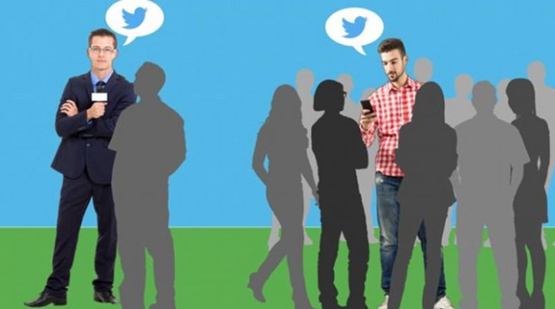 New research from two Northeastern University professors shows that in the days following Michael Brown's fatal shooting, everyday citizens -- not politicians, celebrities, or other prominent public figures -- were the ones who, using Twitter, shaped the national dialogue. Credit Illustration by Erica Lewy/Northeastern University