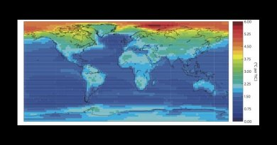 This is a map of climate change. Credit: Nature Climate Change