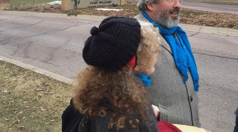 Kathy Kelly and Brian Terrell Arrested for Delivering Loaf of Bread to Drone Base. Source: VCNV