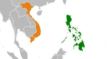 Locations of Philippines and Vietnam. Source: Wikipedia Commons.