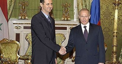 A 2005 meeting between Syria's Bashar al-Assad and Russia's Vladimir Putin. Photo Credit: Kremlin.ru