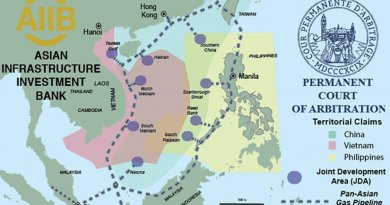 The Philippines has appealed to The Hague based UN Court of Arbitration over China's territorial claim to nearly the entire South China Sea. The tribunal could issue a ruling as early as May. Source: Grenatec