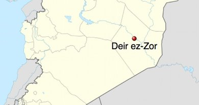 Location of Deir Ezzor in Syria. Source: Wikipedia Commons.