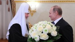 Russia's Vladimir Putin meets with Patriarch of Moscow and All Russia Kirill. Photo Credit: Kremlin.ru