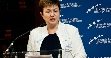 Bulgaria's Kristalina Georgieva, European Commissioner for International Cooperation, Humanitarian Aid and Crisis Response. Photo Credit: Friends of Europe, Wikipedia Commons.