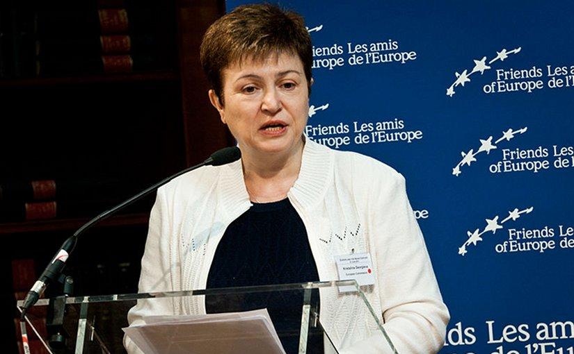 Bulgaria's Kristalina Georgieva, European Commissioner for International Cooperation, Humanitarian Aid and Crisis Response. Photo Credit: Friends of Europe, Wikipedia Commons.