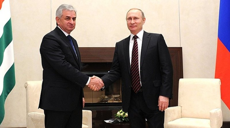 Russia's Vladimir Putin meets with President of Abkhazia Raul Khadjimba. Source: Kremlin.ru