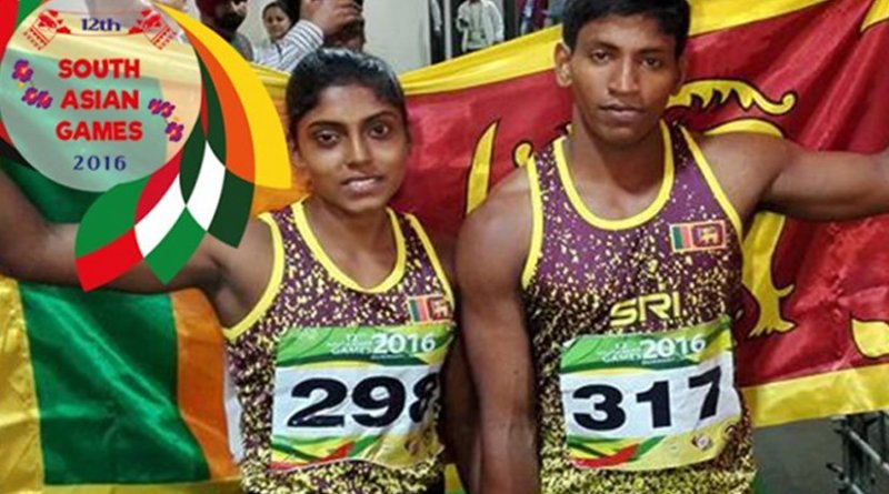 Sri Lanka athletes at 12th South Asian Games. Photo Credit: Sri Lanka government.
