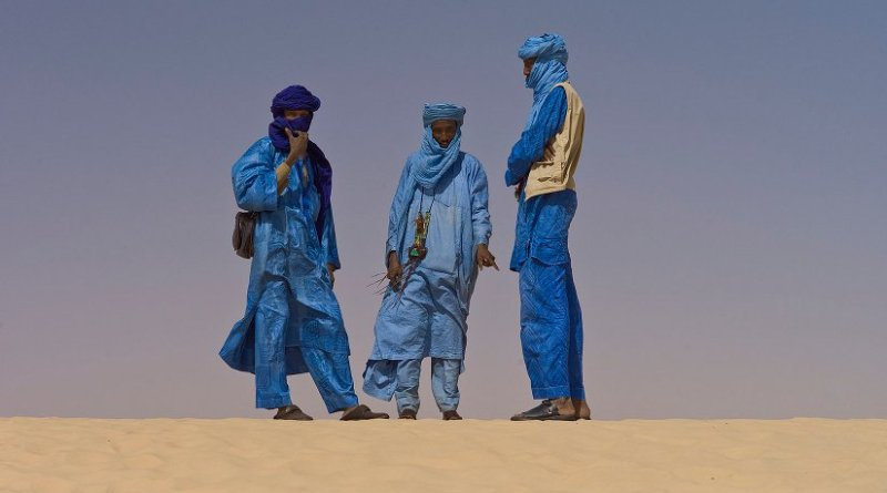 Touaregs at the Festival au Desert near Timbuktu, Mali. Photo by Alfred Weidinger, Wikipedia Commons.