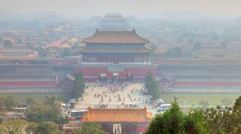 These are palaces, avenues, buildings, parks, and scenery around China's Capital Forbidden City under the pollution of present day Beijing in September 2013. Credit Yinan Chen via Wikimedia Commons