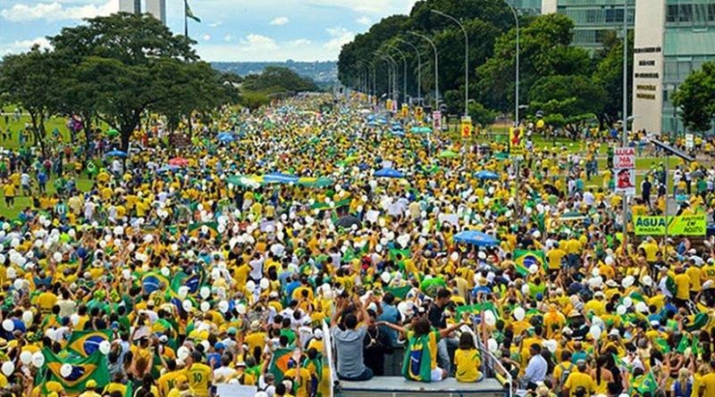 Brazil Protest 2016 March. Source: Wikimedia.
