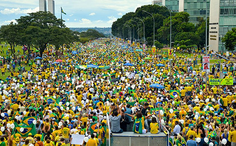 Brazil Protest 2016 March. Source: Wikimedia.