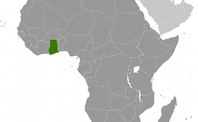 Location of Ghana. Source: CIA World Factbook.