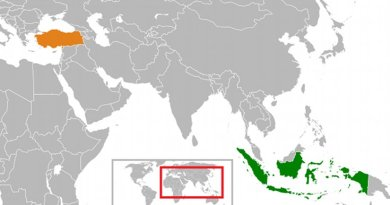 Locations of Indonesia and Turkey. Source: Wikipedia Commons.