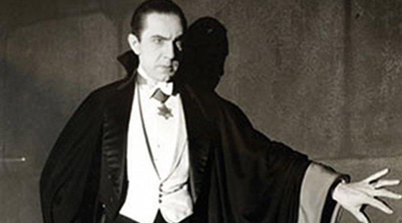 Bela Lugosi as Dracula, anonymous photograph from 1931, Universal Studios, Wikipedia Commons.