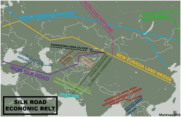 Figure 2: Summary of Infrastructure Projects affiliated with the Silk Road Economic Belt, Prepared by the author