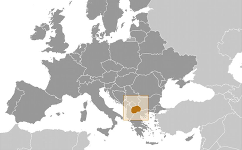 Location of Macedonia. Source: CIA World Factbook.