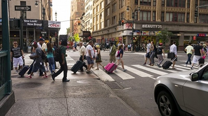 Street scene in New York City.