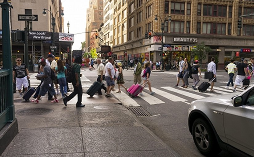 Street scene in New York City.