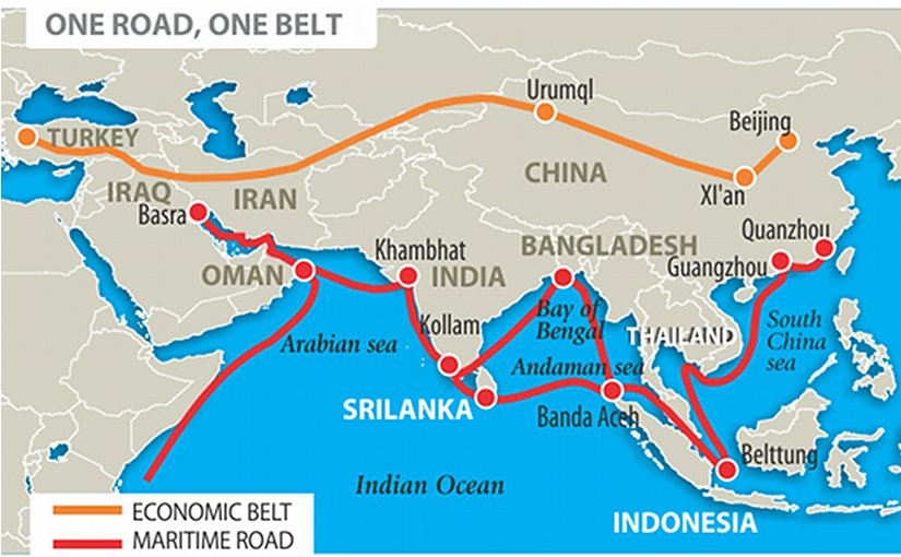 Chinas new silk road project and south asia oped eurasia review china silk road gumiabroncs Choice Image
