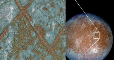 As the moon Europa's icy shell is pushed and pulled by Jupiter's gravity, it heaves up and down. That process creates enough heat, scientists think, to create a global subsurface ocean on Europa. Experiments by Brown University researchers suggests that this heating process, known as tidal dissipation, creates more heat in ice that scientists have generally assumed. The insight could help scientists model the thickness of Europa's icy shell. Credit NASA/JPL