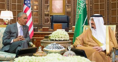 US President Barack Obama meets with Saudi Arabia's King Salman. Credit: SPA