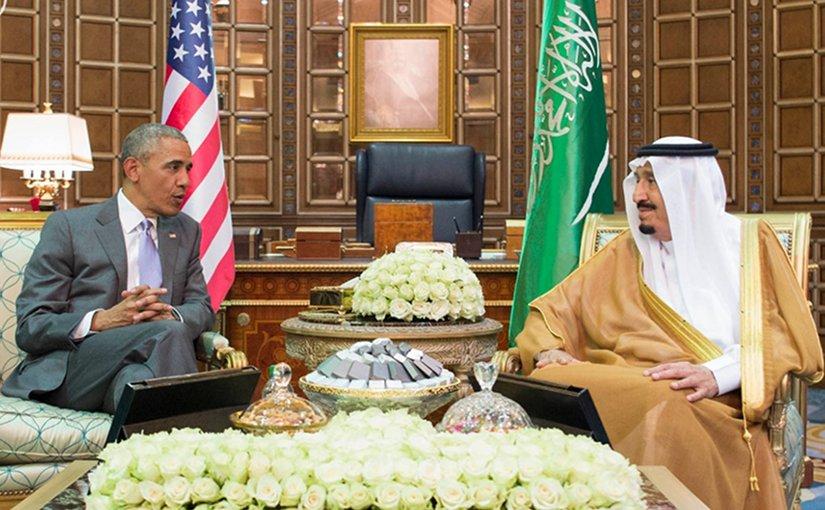 US President Barack Obama meets with Saudi Arabia's King Salman. Credit: SPA