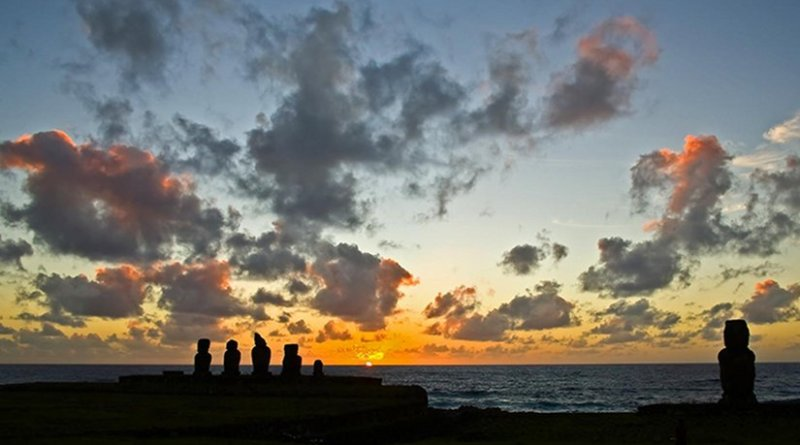The iconic moai statues are found on Easter Island. Credit Photo courtesy of Dr. Valentí Rull