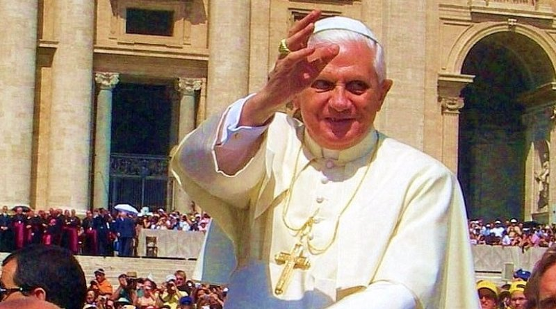 Pope Benedict XVI. Photo by Marek Kośniowski, Wikipedia Commons.