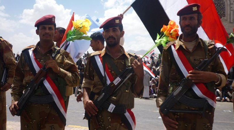 Yemen soldiers. Photo by Ibrahem Qasim, Wikipedia Commons.