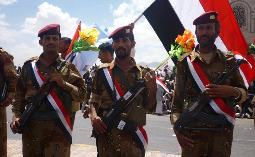 Yemen soldiers. Photo by Ibrahem Qasim, Wikipedia Commons.