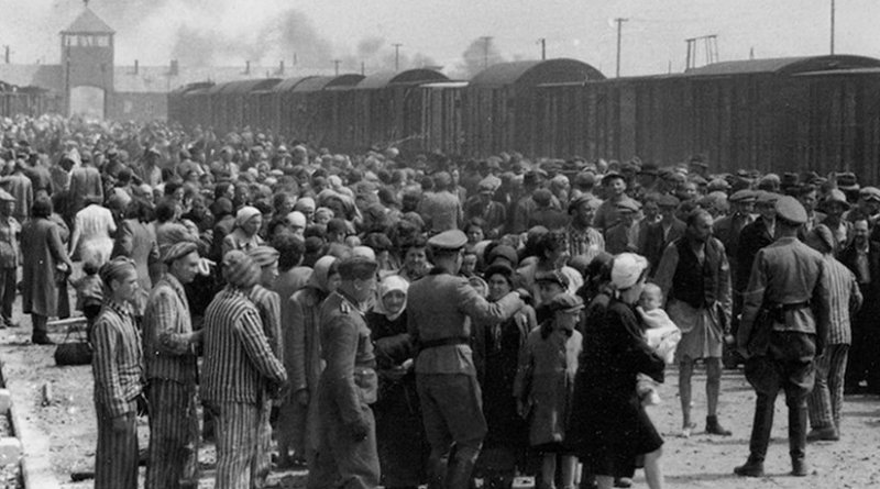 The photograph is part of the collection known as the Auschwitz Album. Credit: Wikimedia Commons