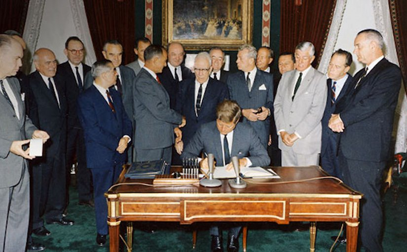 President John F. Kennedy opened the CTBT for signature in 1996. Source: CTBTO
