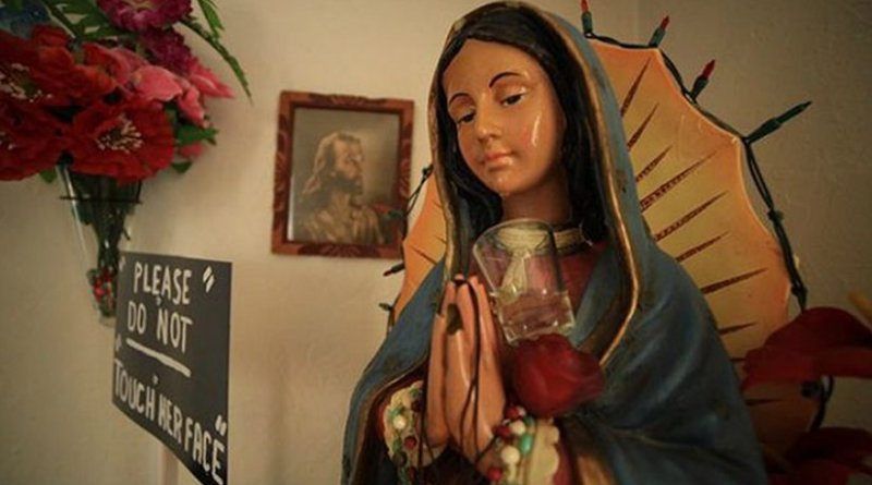 statue of Our Lady of Guadalupe in Fresno that allegedly produces tears. Photo courtesy of Joe Ybarra.