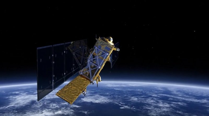 ESA's Sentinel-1 satellite. Credit: Screenshot of ESA video