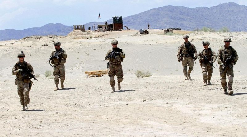 Army soldiers take part in a training exercise on Tactical Base Gamberi in eastern Afghanistan in 2015. Credit: US Department of Defense