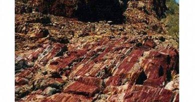 Marble Bar sediments, a microcrystalline silicone-rich chert. Credit A. Glikson