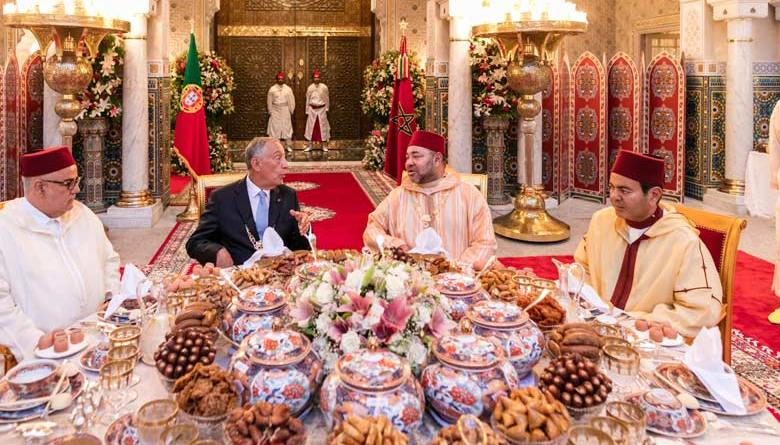Portuguese president Marcelo Duarte Rebelo de Sousa in Morocco on an official visit to the North African Kingdom at the invitation of King Mohammed VI.