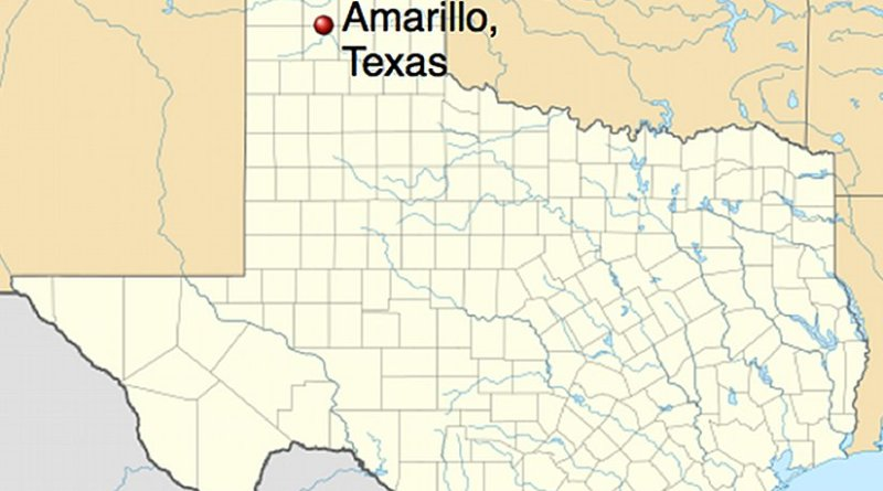 Location of Amarillo, Texas. Source: Wikipedia Commons.