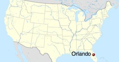 Location of Orlando, Florida. Source: Wikipedia Commons.