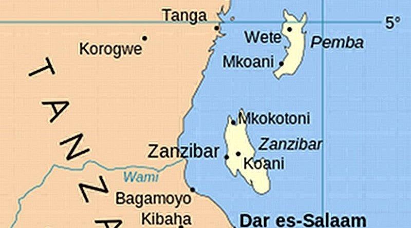 Location of Zanzibar in Tanzania. Source: Wikipedia Commons.