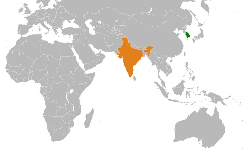 Relevance of soft power in fostering india south korea relations locations of india and south korea source wikipedia commons gumiabroncs Image collections