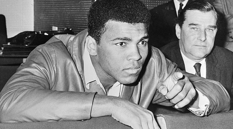 Muhammad Ali in 1966. Source: Dutch National Archives, The Hague, Fotocollectie Algemeen Nederlands Persbureau (ANEFO), Wikipedia Commons.